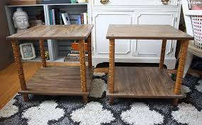 Diy Simple End Table by Diy Projects Ugly End Tables Get A Chic Makeover Tutorial