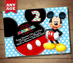 Birthday Invitation Cards For Kids 6 Incredible Mickey Mouse Invitations Printable Ideas For Kids