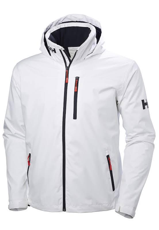 Helly Hansen Crew Hooded Midlayer Jacket 33874 WHITE XXXL