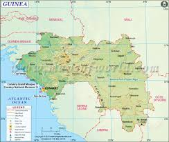Map Of Mali Africa by Guinea Map Map Of Guinea
