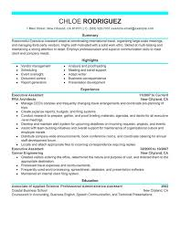 Skill Set Resume Examples by Unforgettable Executive Assistant Resume Examples To Stand Out