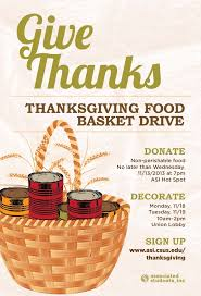 Thanksgiving Picnic Ideas Thanksgiving Food Baskets Asi Associated Students Inc