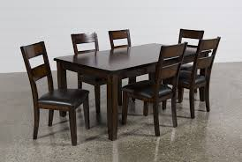 Brown Dining Room Table Rocco 7 Piece Extension Dining Set Living Spaces