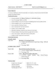 Summary Sample Resume by Aoc Test Engineer Sample Resume Haadyaooverbayresort Com