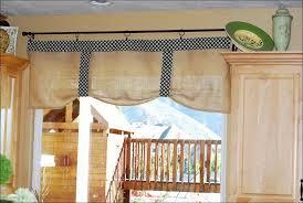 Elegant Kitchen Curtains by Kitchen Ruffled Burlap Curtain Farmhouse Kitchen Valance By