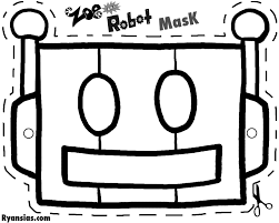 Halloween Masks Printables Robot Mask Google Search Immagini Da Colorare Pinterest