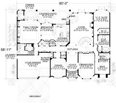 Cabana House Plans by Mediterranean Style House Plan 7 Beds 8 50 Baths 6412 Sq Ft Plan