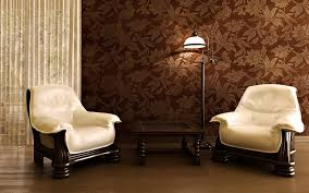 Brown And Yellow Living Room by Engaging Living Room With Wallpaper Designs Amusing Interior