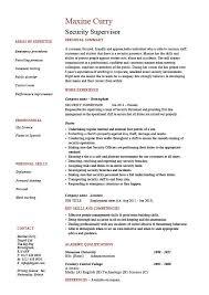 Job Duties On Resume by Security Supervisor Resume Sample Example Patrol Job