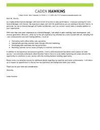 Examples Of Resume Cover Letters Generic Examples best sales general manager cover letter examples livecareer