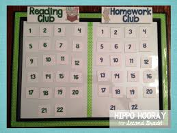 Homework Club Reading Club board to keep track and reward kids who return their homework on time  Pinterest