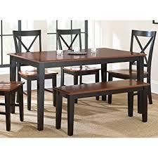 Steve Silver Dining Room Furniture Amazon Com Steve Silver Company Kingston Dining Table Oak Black