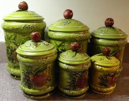 Green Canister Sets Kitchen 100 Country Kitchen Canisters Vintage Aluminum Copper