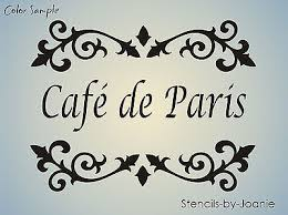 Shabby Chic Stencils by Lg Stencil Cafe De Paris Shabby Cottage French Fleur Chic Fancy