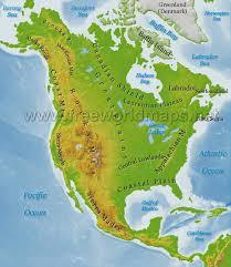 Map Of Western Caribbean by North America Physical Map U2013 Freeworldmaps Net