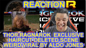 thor ragnarok u2013 exclusive haircut deleted scene reaction youtube