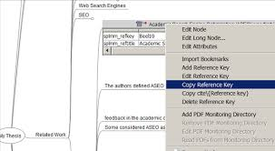 Copy bibliographic data from SciPlore MindMapping to your PhD thesis in MS Word SciPlore