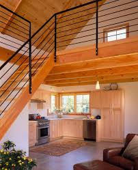 tiny house with loft white painted interior small homes