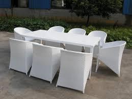 White Resin Wicker Outdoor Patio Furniture Set - ideas on white wicker patio furniture decor crave