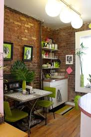 Tiny Apartment In New York With Exposed Brick Walls - Small new york apartment design
