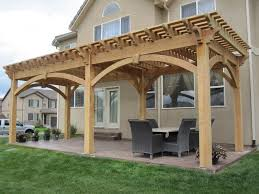Timber Frame Pergola by Over Size Timber Frame Pergola Kit Before U0026 After Western Timber