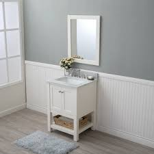 Home Design Outlet Center Alya Bath Wilmington 24 In Single Bathroom Vanity In White With