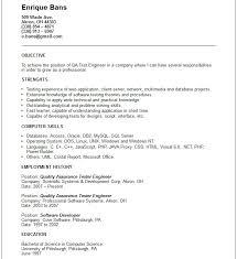Sample Test Manager Resume by Download Environmental Test Engineer Sample Resume