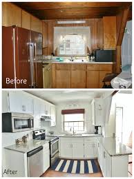 a frame kitchen remodel refaced the cabinets by adding trim and