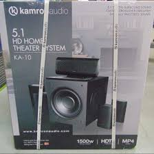 5 1 home theater system kamron audio 5 1 hd home theater system ka 10 1500w ebay