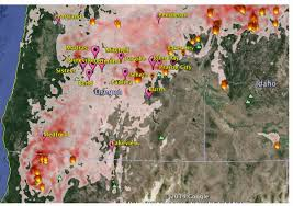 Wild Fires In Oregon Update by Oregon Smoke Information Wildland Fire Air Quality Forecast For