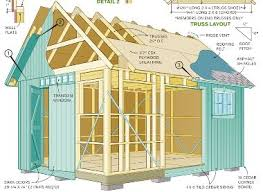 Diy 10x12 Shed Plans Free by Detailed Framing For Shed Plans Garage Addition Pinterest