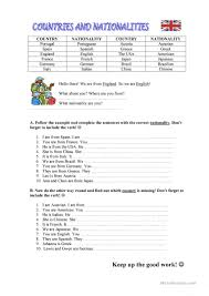 Spanish Speaking Countries Blank Map Quiz by 646 Free Esl Countries Worksheets