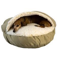 snoozer orthopedic cozy cave pet bed in khaki u0026 cream petco
