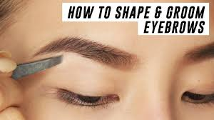 how to shape u0026 groom eyebrows at home tina yong youtube