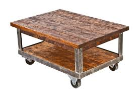 Repurposed Coffee Table by Fully Refurbished Vintage American Made Industrial Two Tier Mobile