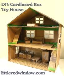 diy cardboard box toy house diy cardboard cardboard boxes and