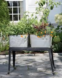 wash tub planter elevated garden metal wash tub planter