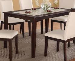 amazon com casual cream faux marble top and espresso solid wood