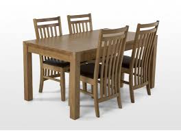 rustic solid wood casual dining table chair set w bench solid