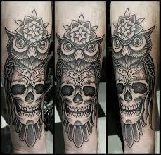 owl with skull pande lee by pande lee on deviantart