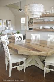 Dining Room Table Pictures Diy Octagon Dining Room Table With A Farmhouse Base Seats 8