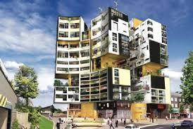 Simple Apartment Building Design Architecture House Illustration - Apartment building design