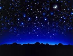 a lua e as estrelas