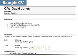 Resume For College Student Sample by How To Write A Cv For College Student Sample Cv Gif Thankyou