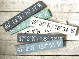 Personalized Signs For Home Decorating Personalized Coordinates Sign Gallery Wall And Display