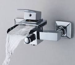Bathroom Sink Wall Faucets by Single Handle Wall Mount Waterfall Bathroom Sink Faucet Or Bathtub