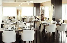 Fancy White Plush Restaurant Chairs Luxury Restourant Interior - Commercial dining room chairs
