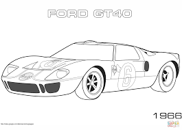 1966 ford gt40 coloring page free printable coloring pages