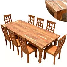 furniture farmhouse solid wood dining table chair set