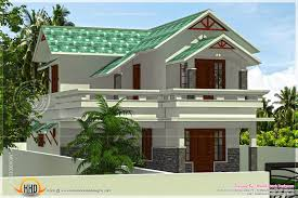 Floor Plan With Roof Plan by 1656 Square Feet Green Roof House Kerala Home Design And Floor